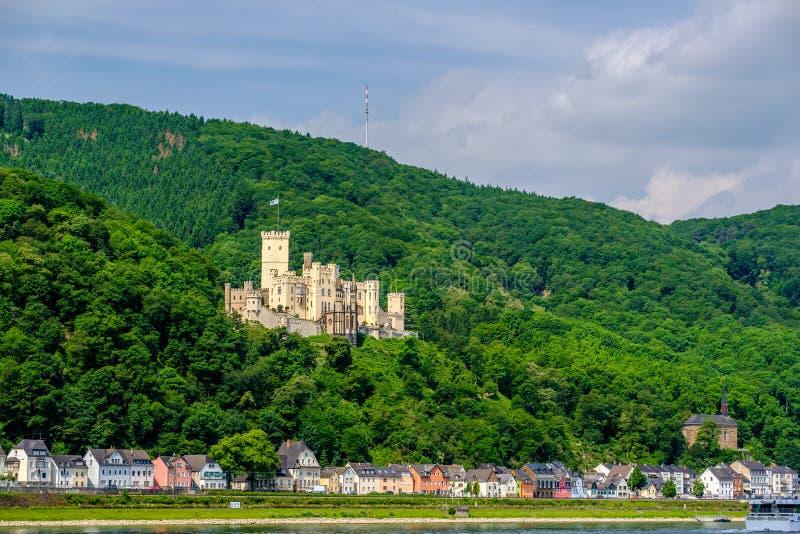 Stolzenfels kasztel przy Rhine doliną blisko Koblenz, Niemcy zdjęcia royalty free