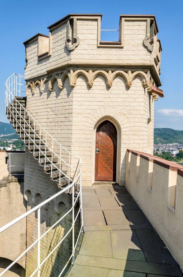 Stolzenfels kasztel Rhine dolina, Niemcy obraz royalty free
