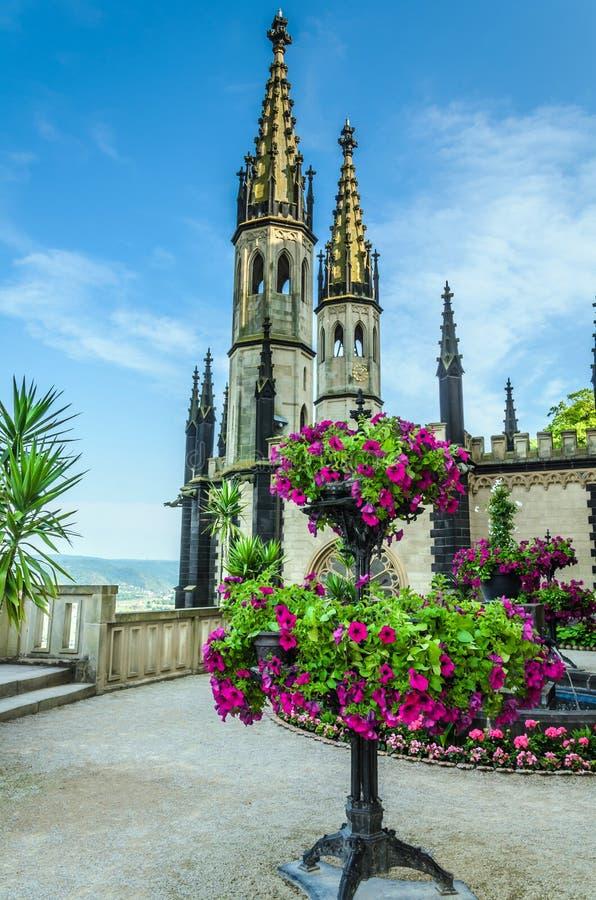 Stolzenfels kasztel Rhine dolina, Niemcy fotografia royalty free