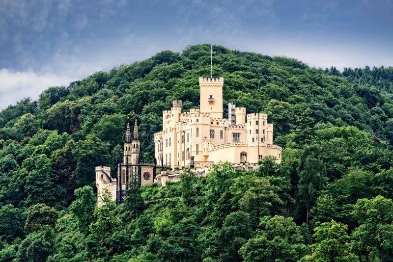 Stolzenfels slott i Tyskland arkivfoton