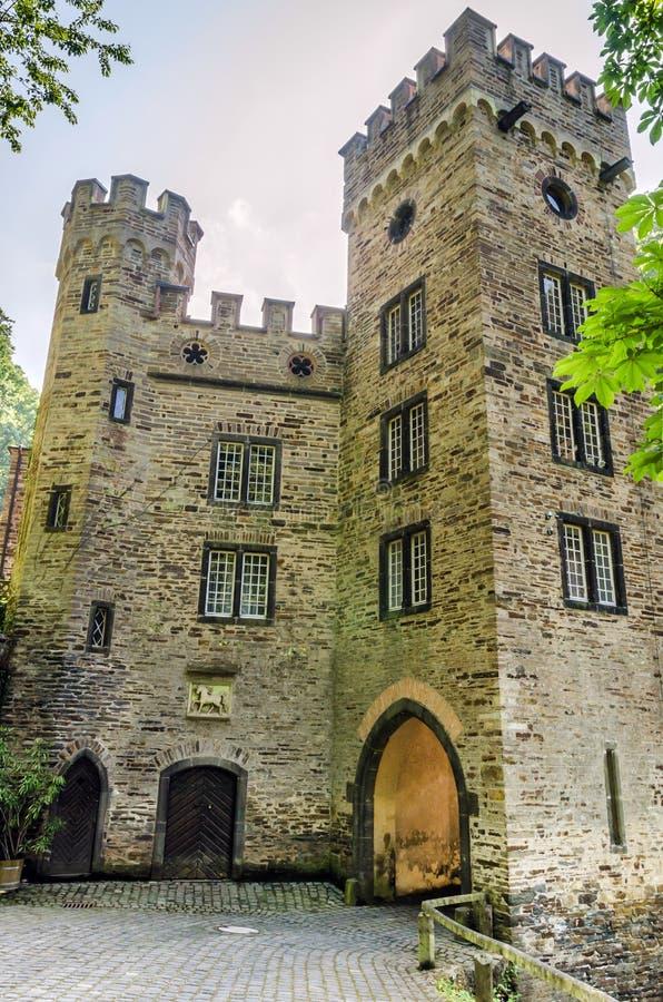 Stolzenfels slott, Rhendalen, Tyskland arkivbilder