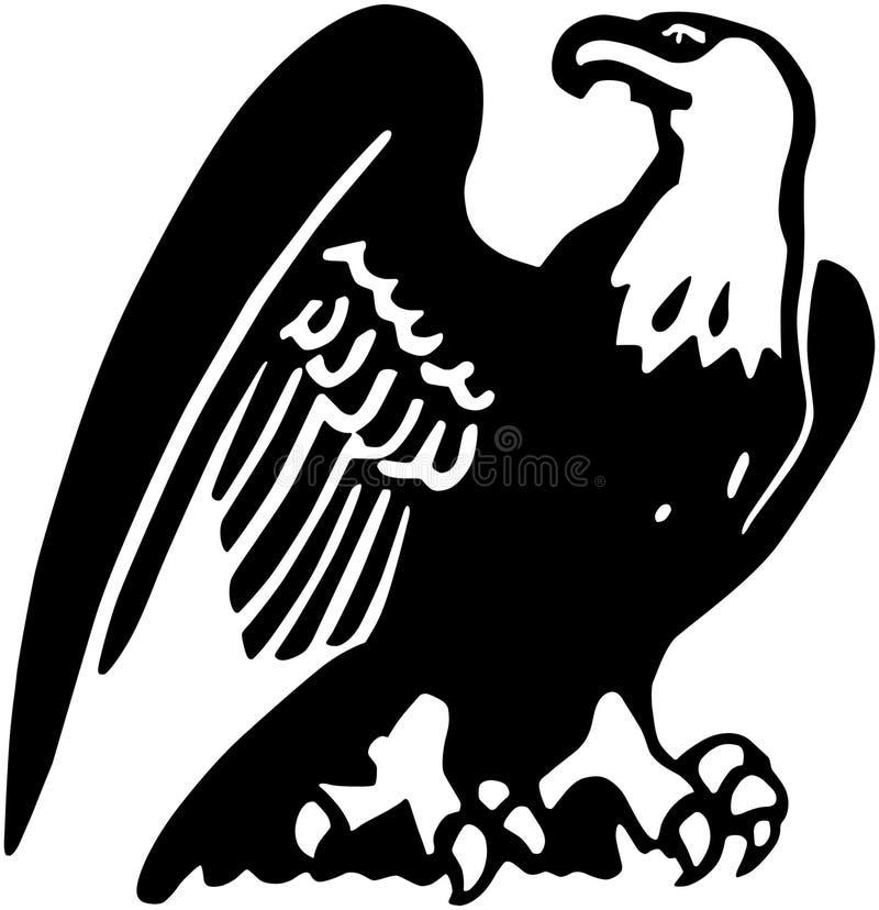 Stolzer Adler lizenzfreie abbildung