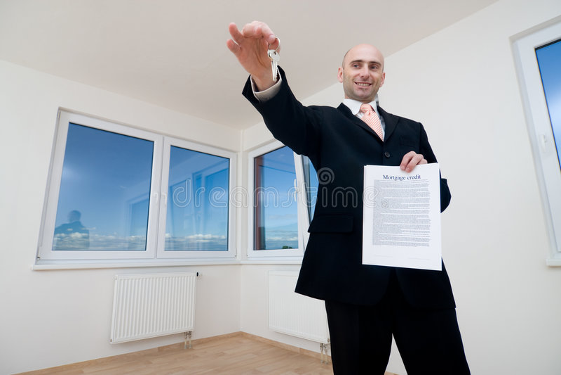 Stolzer Hausbesitzer stockfotografie