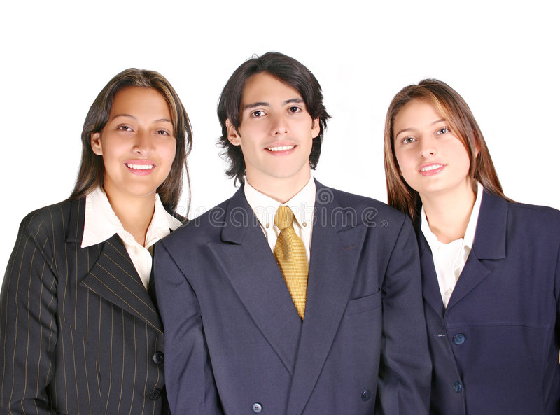 Stolzes Geschäfts-Team stockfotos