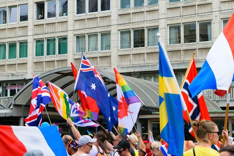 Stolzparade LGBT Wiens, Österreich AM 15. JUNI 2019 lizenzfreies stockfoto