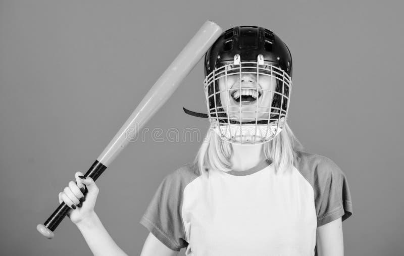 Stom ideeconcept Het meisje wil enkel heeft pret Spelspel voor pret Vrouw die pret hebben tijdens honkbalspel Meisjes mooi blonde stock foto's