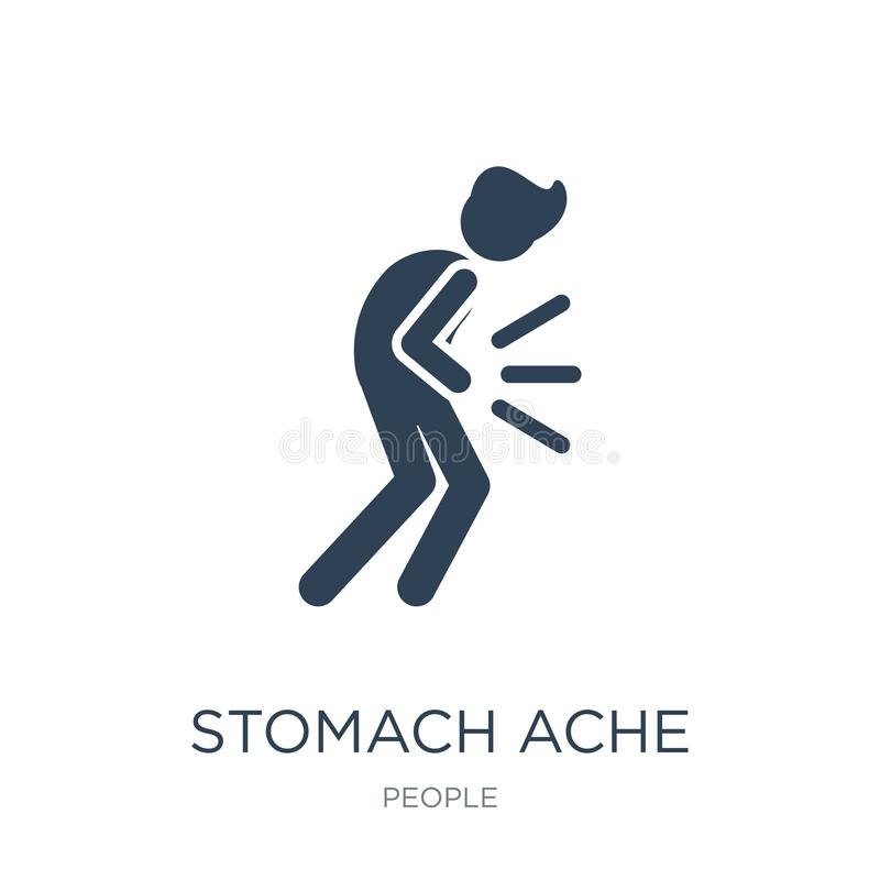 Stomach ache icon in trendy design style. stomach ache icon isolated on white background. stomach ache vector icon simple and. Modern flat symbol for web site royalty free illustration