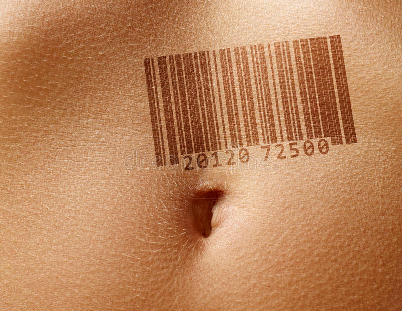 Download Stomach with barcode stock photo. Image of background - 23805592