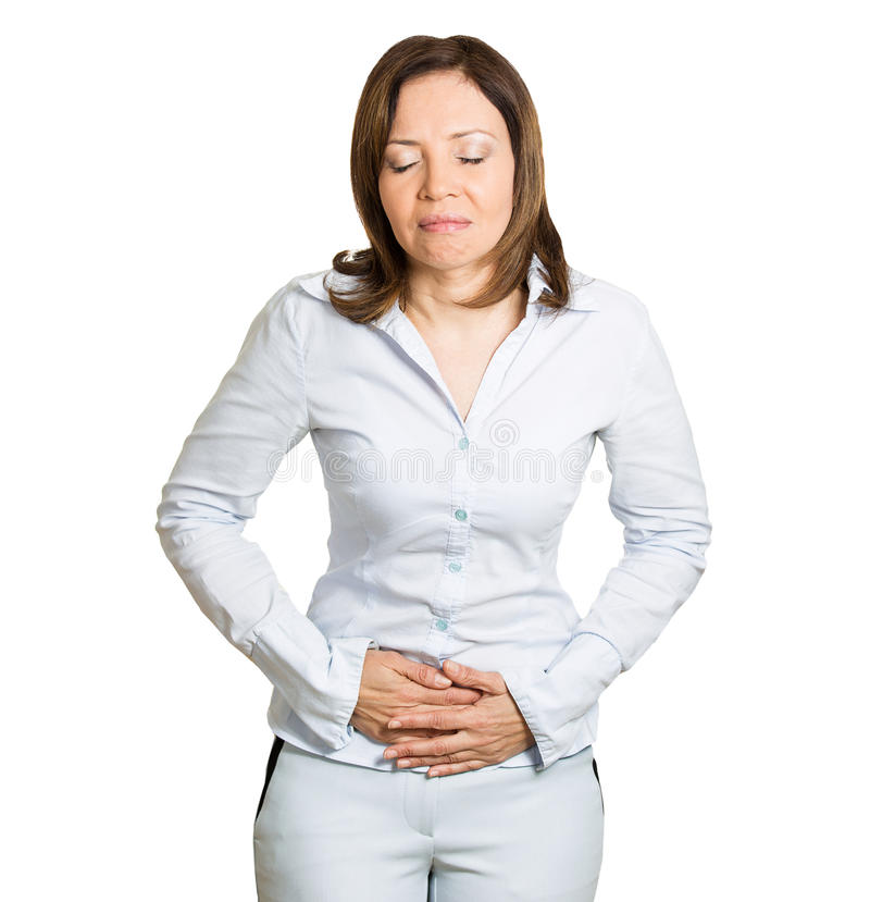 Stomach pain royalty free stock photography