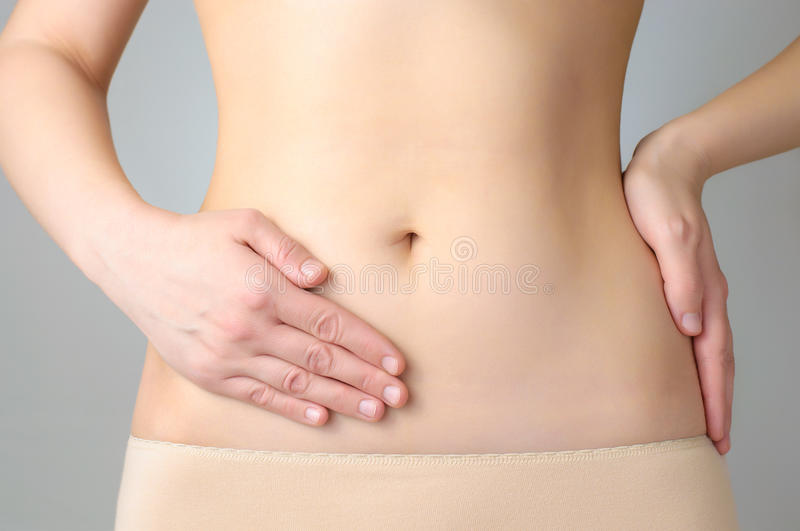Stomach pain royalty free stock photos
