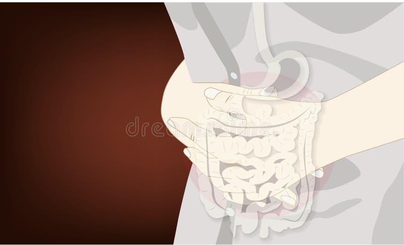 Stomachache: bólowy żołądek royalty ilustracja