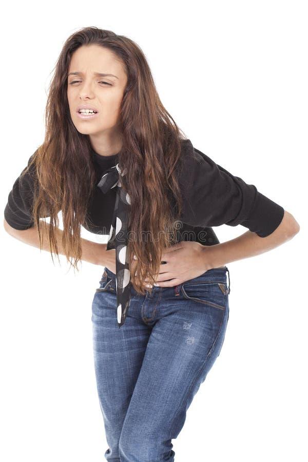 stomachache kobieta zdjęcie royalty free