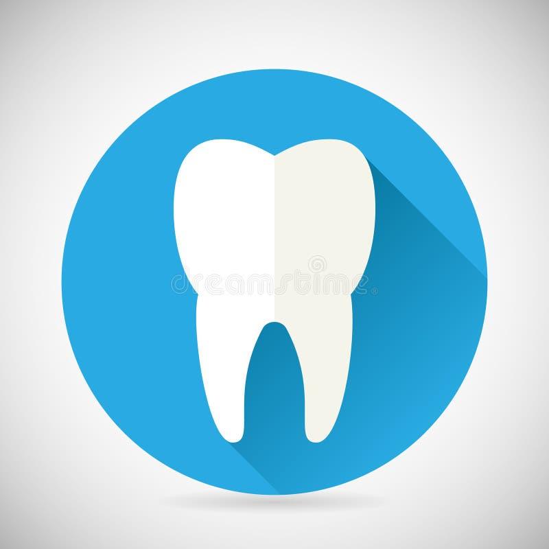 Stomatologia ed icona dentaria del dente di simbolo di trattamento royalty illustrazione gratis