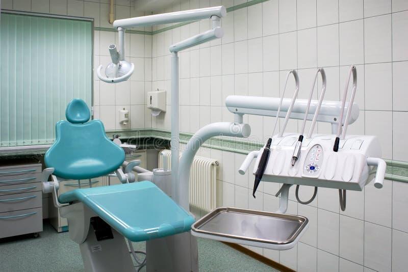 stomatologic机柜的设备 免版税库存图片