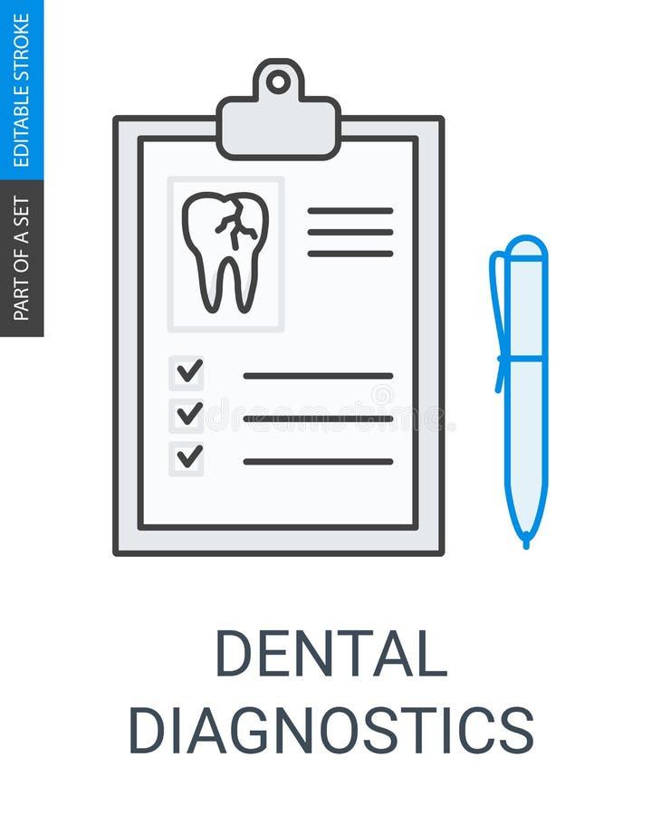 Stomatologiczna diagnostyk ikona ilustracja wektor