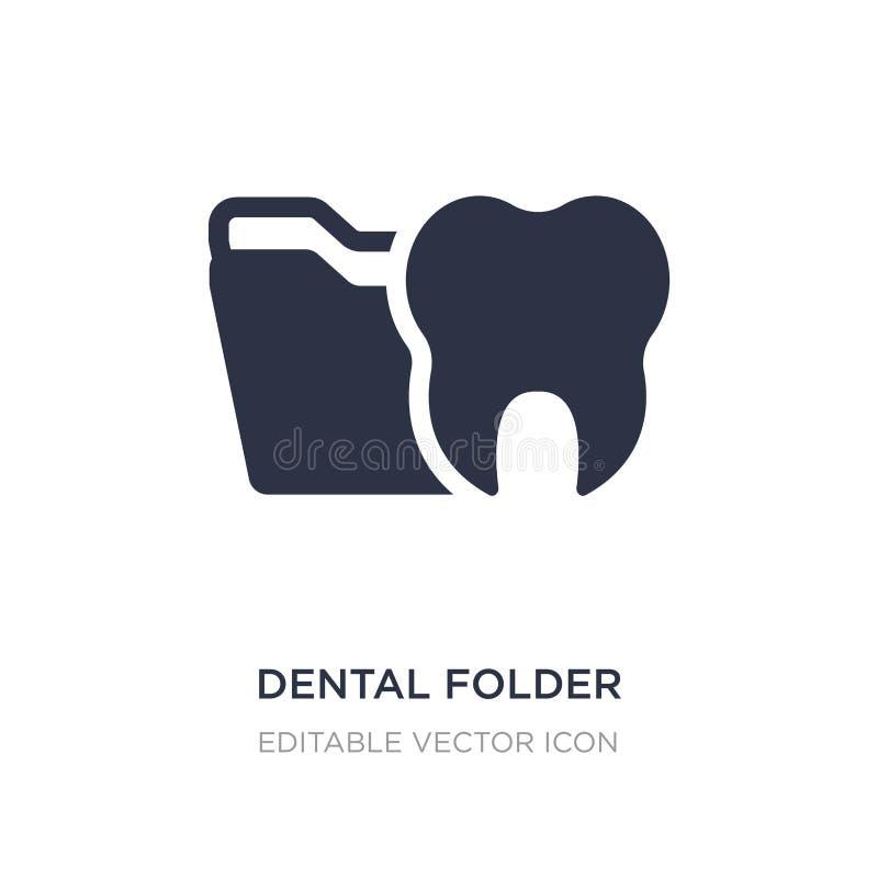 stomatologiczna skoroszytowa ikona na białym tle Prosta element ilustracja od dentysty pojęcia ilustracja wektor