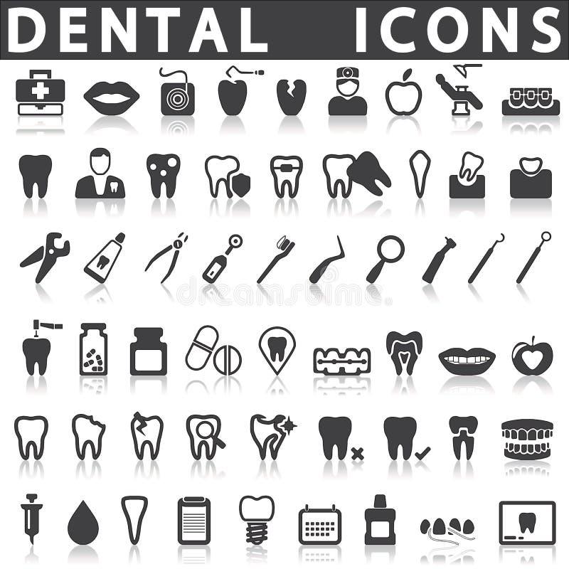 stomatologiczne ikony ilustracji