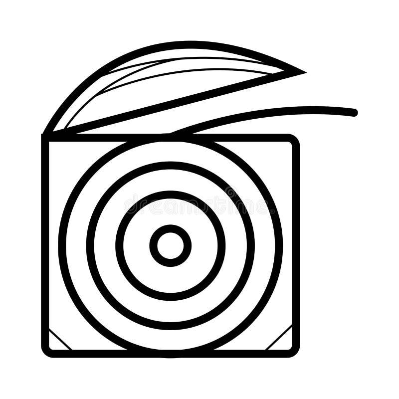 Stomatologicznego floss ikona ilustracja wektor
