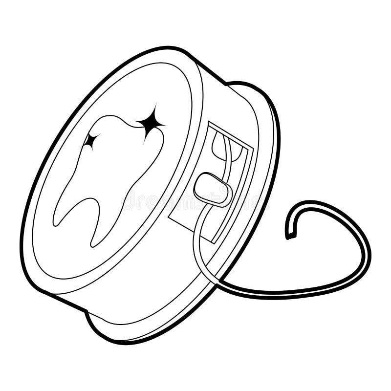 Stomatologicznego floss ikony kontur royalty ilustracja
