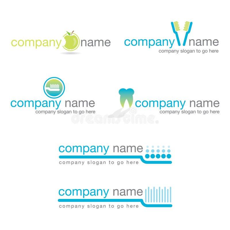 stomatologiczni logowie ustawiają wektor sześć ilustracji