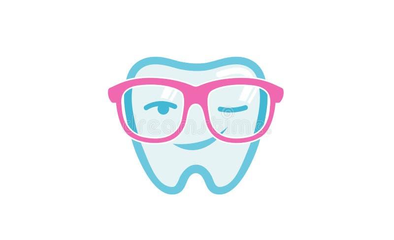 Stomatologiczny fajtłap szkieł mrugnięcia zębów logo royalty ilustracja