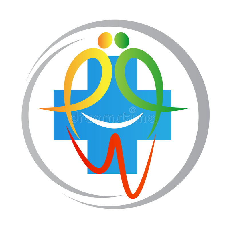 Stomatologiczny klinika logo ilustracja wektor