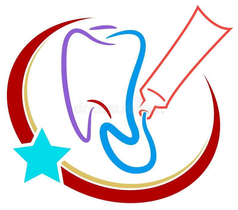 Stomatologiczny logo ilustracji