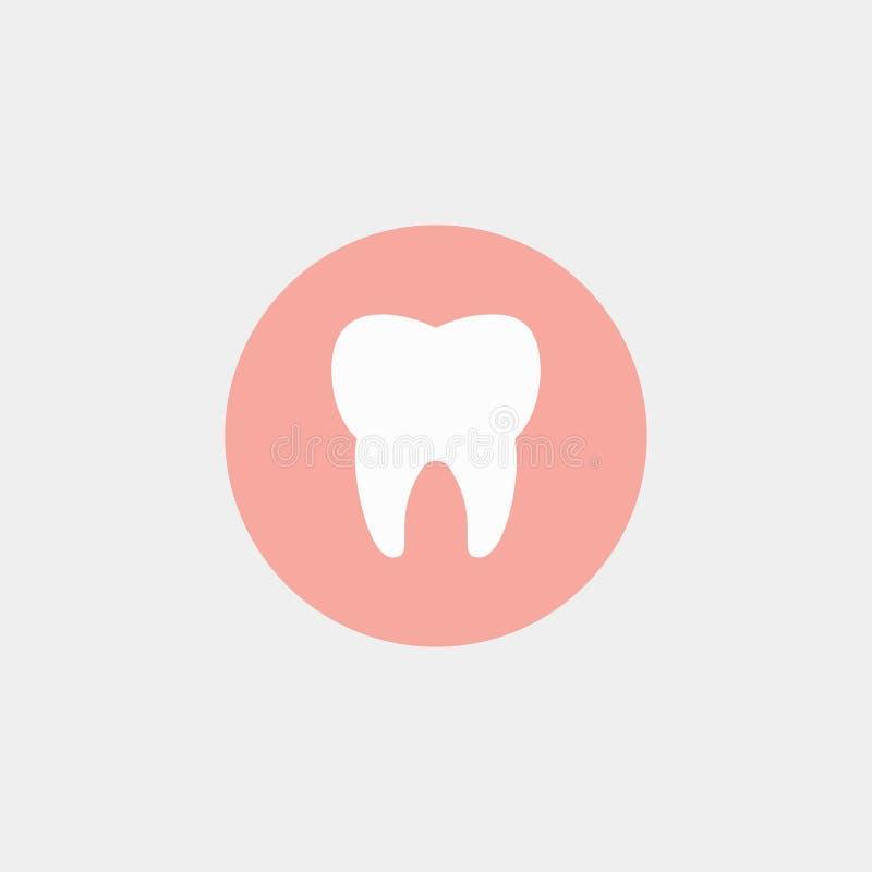 Stomatologiczny logo, dentysty ząb 10 eps ilustracyjny osłony wektor royalty ilustracja