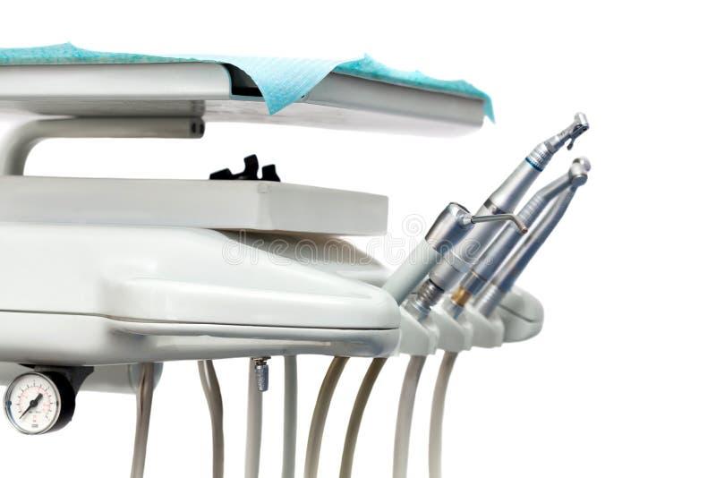 Stomatologisch instrument in de tandartsenkliniek. royalty-vrije stock foto's