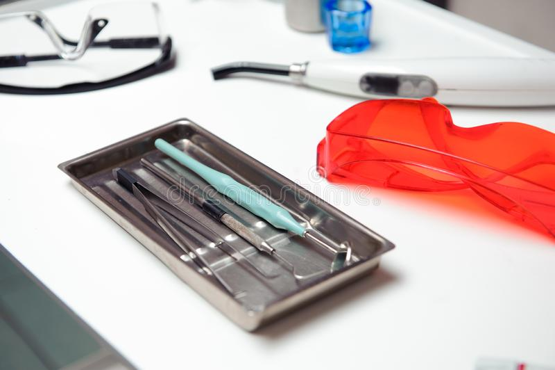 Stomatology. Dentistry. Medicine, medical equipment royalty free stock images