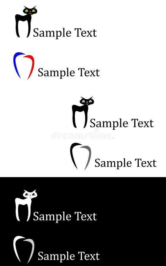 Stomatology-logo royaltyfri illustrationer