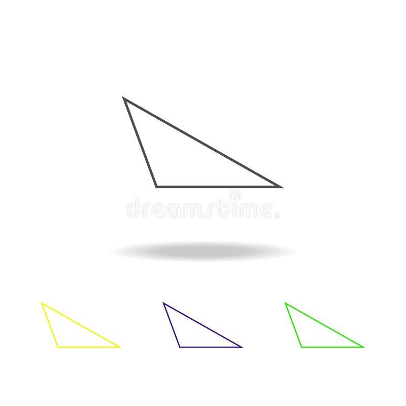 stomp driehoek gekleurd pictogram Kan voor Web, embleem, mobiele toepassing, UI, UX worden gebruikt stock illustratie