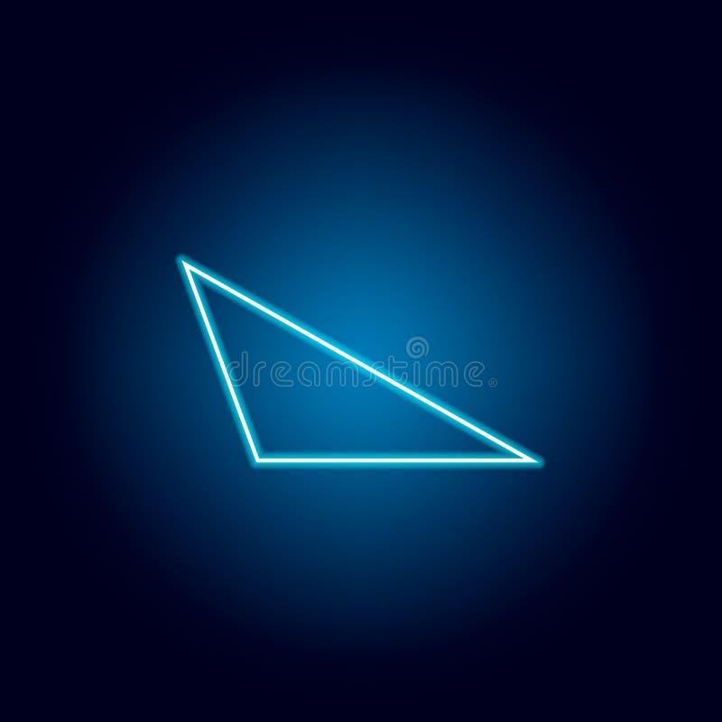 stomp driehoekspictogram in neonstijl Geometrisch cijferelement voor mobiel concept en Web apps Dun lijnpictogram voor websiteont vector illustratie