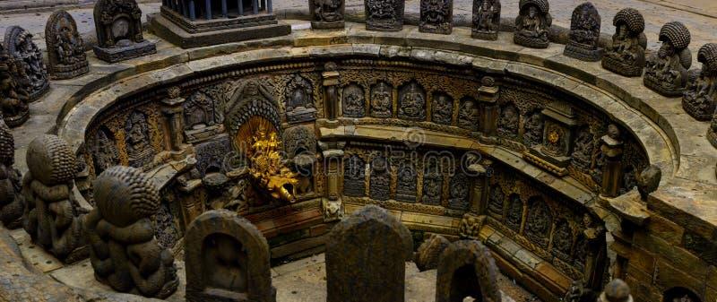 Ston carft fontanna obrazy royalty free