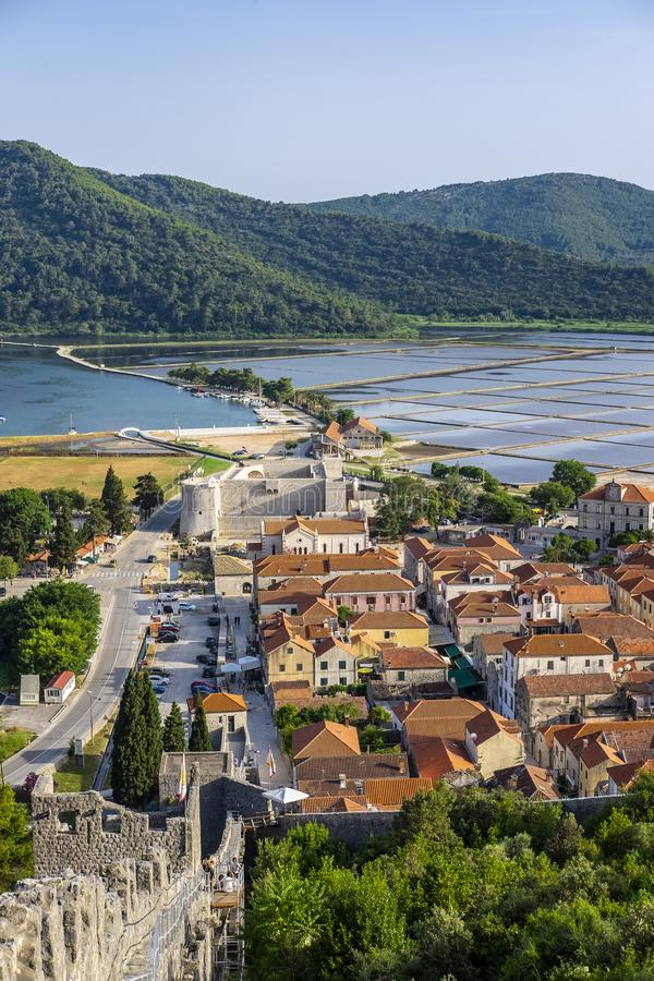 Ston, Dalmacia, Croacia imagen de archivo libre de regalías