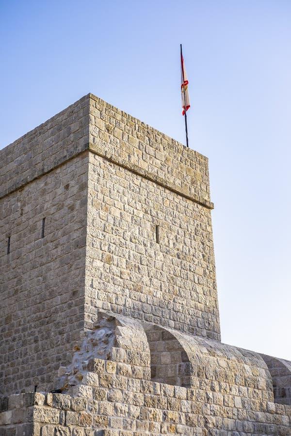 Ston Dalmatia, Kroatien arkivbilder
