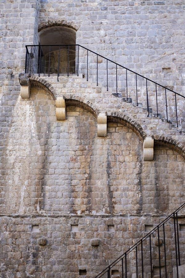 Ston Dalmatia, Kroatien arkivbild