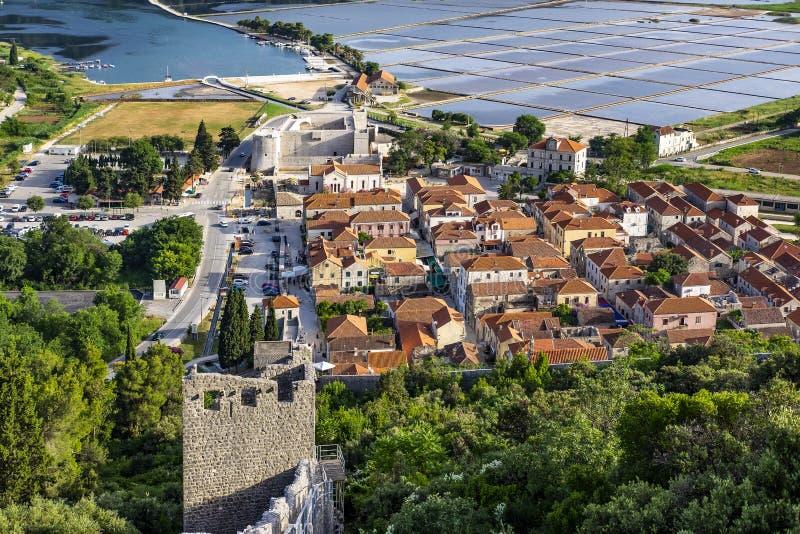 Ston Dalmatia, Kroatien royaltyfria foton