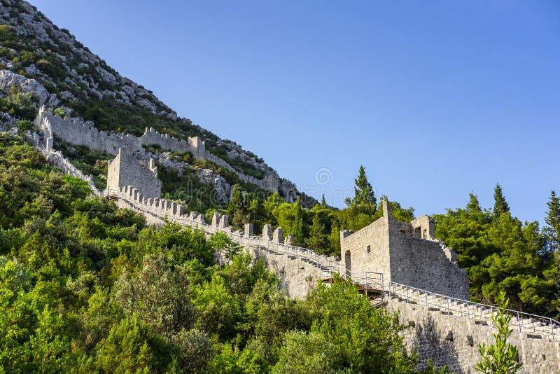 Ston Dalmatia, Kroatien arkivfoton