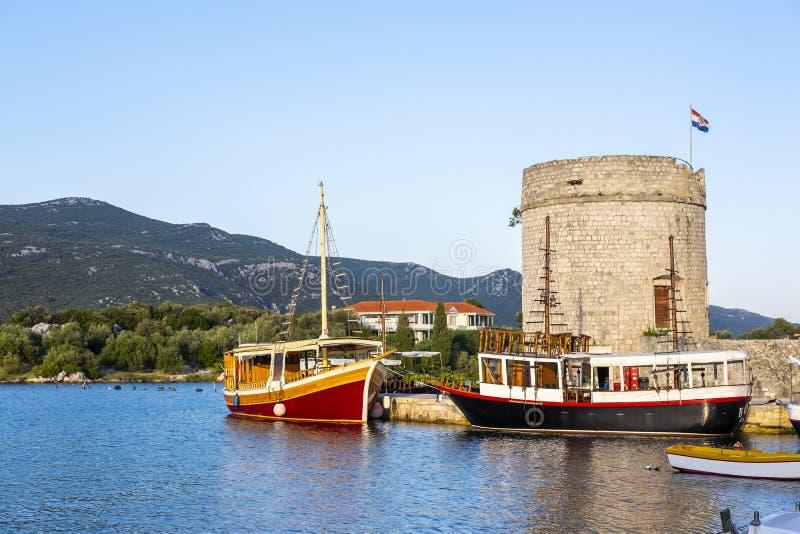 Ston, Dalmatie, Croatie images libres de droits