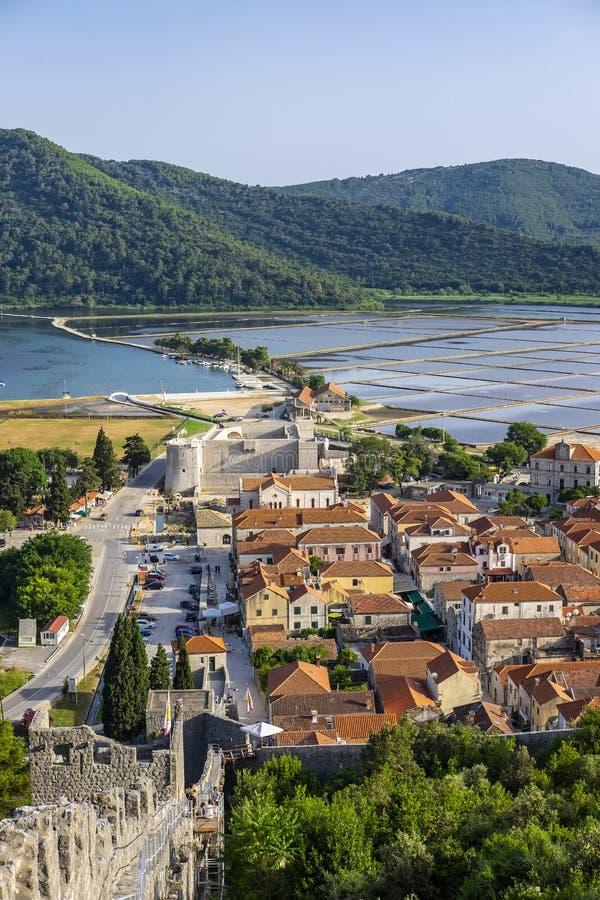 Ston, Dalmatien, Kroatien lizenzfreies stockbild