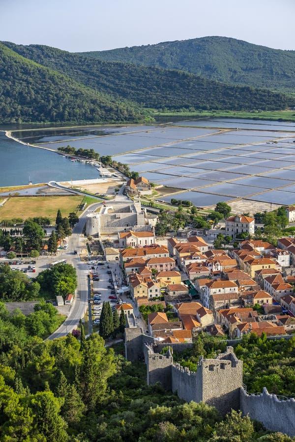 Ston, Dalmatien stockbild