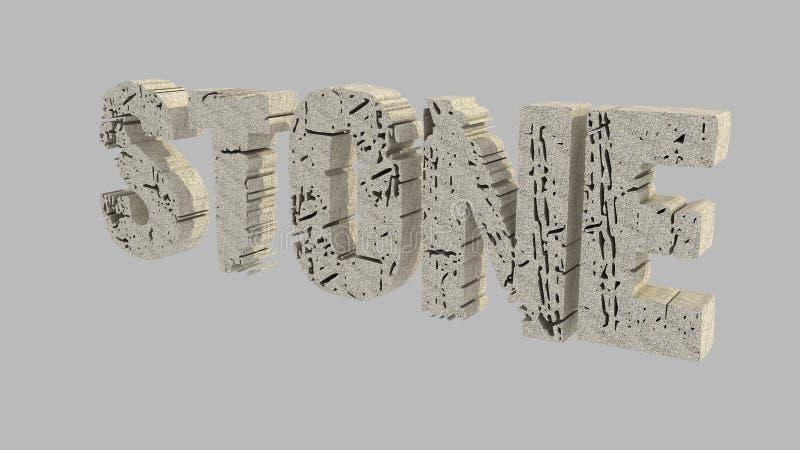 Stone 3D Text Stock Photos