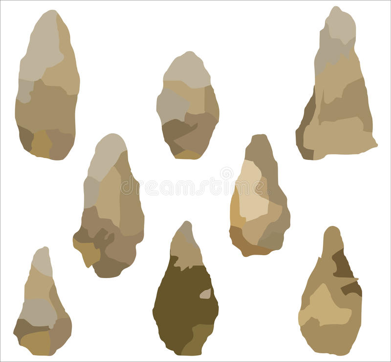 Stone Age - Illustration. Stone Age set. Files Included: EPS 10. This image is a vector illustration and can be scaled to any size without loss of resolution royalty free illustration