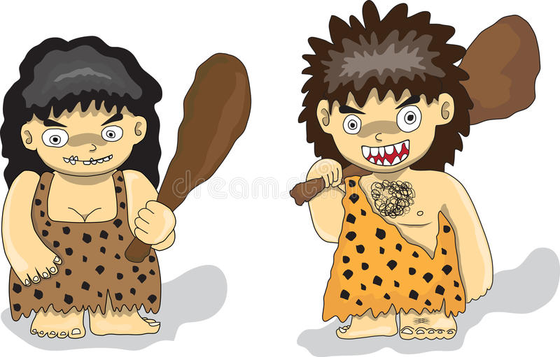 Stone Age people royalty free illustration