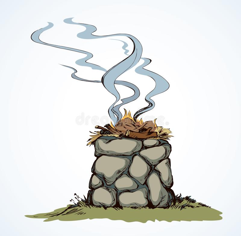 Free Stone Altar. Vector Drawing Royalty Free Stock Photography - 147466347