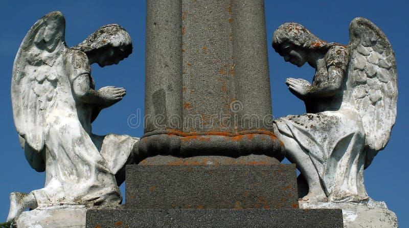 Stone angels royalty free stock image