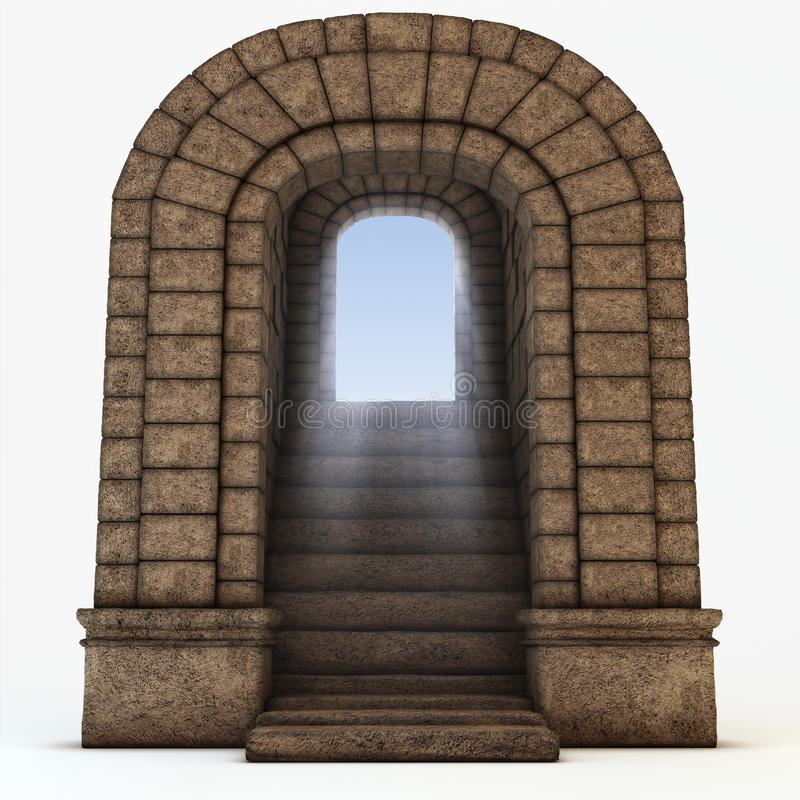 Download Stone arc stock illustration. Illustration of frieze, open - 9577459