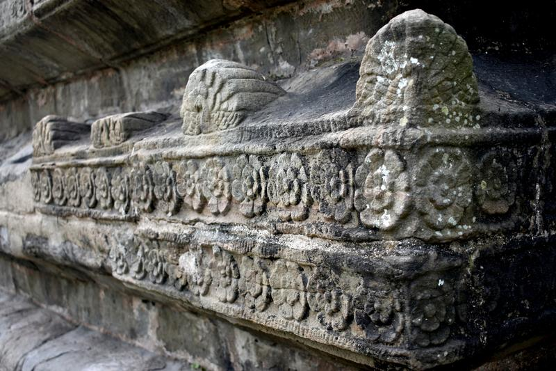 Stone architecture of Shiva Dol of Sivasagar, Assam, India. Shiva Dol, also called Shiv Temple of Sivasagar in Assam with beautiful stone carving on its outer royalty free stock image