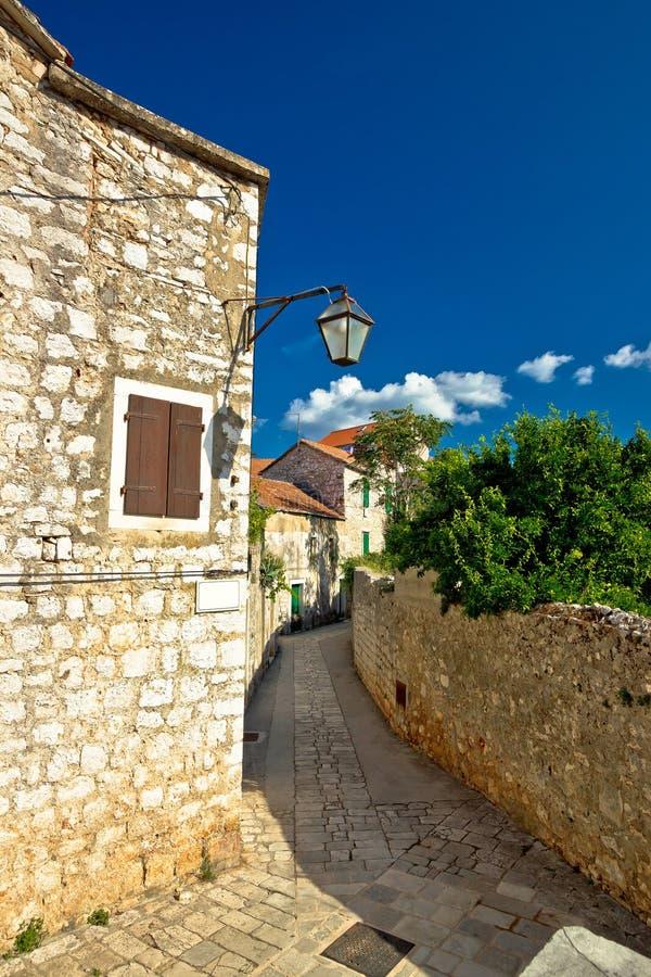 Stone architecture of Stari Grad on Hvar island. Dalmatia, Croatia stock photography